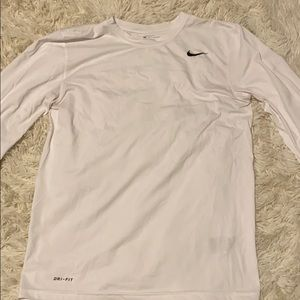 Nike white long sleeve no staining only worn twice